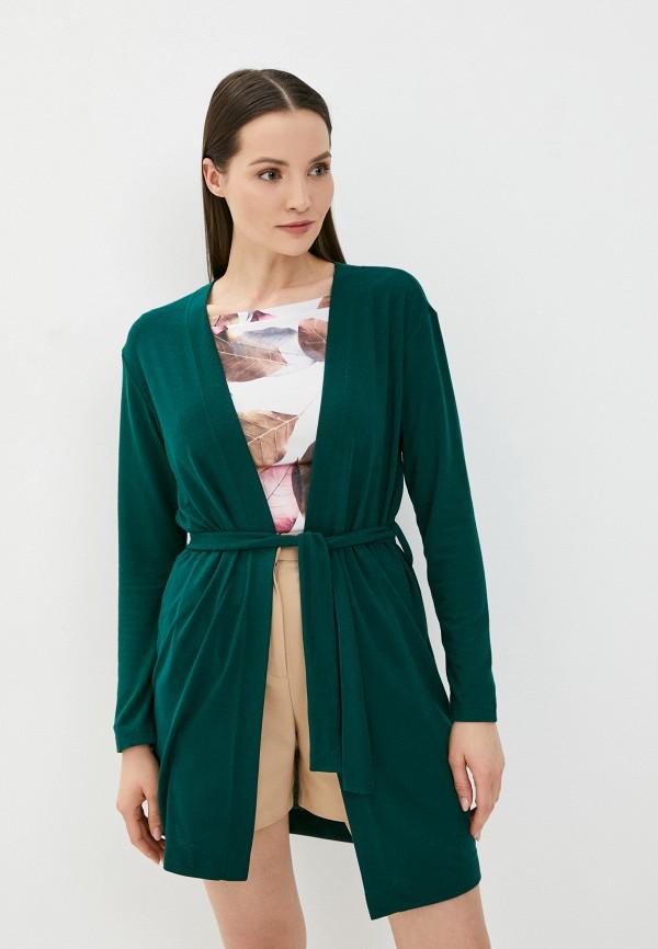 женский кардиган a-a awesome apparel by ksenia avakyan, зеленый