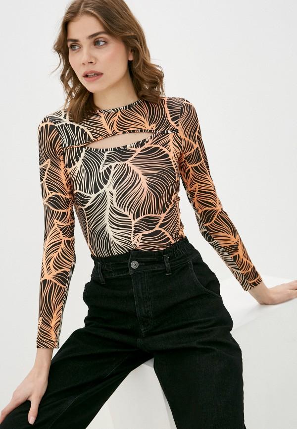 женский лонгслив a-a awesome apparel by ksenia avakyan, оранжевый
