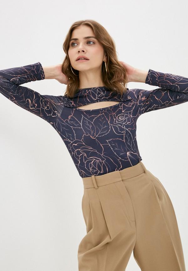 женский лонгслив a-a awesome apparel by ksenia avakyan, синий