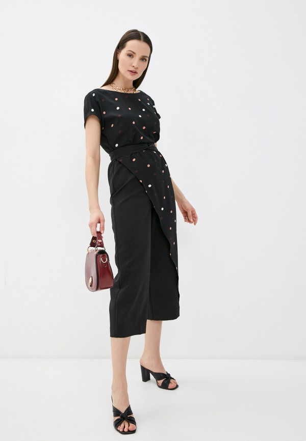 женский комбинезон с брюками a-a awesome apparel by ksenia avakyan, черный