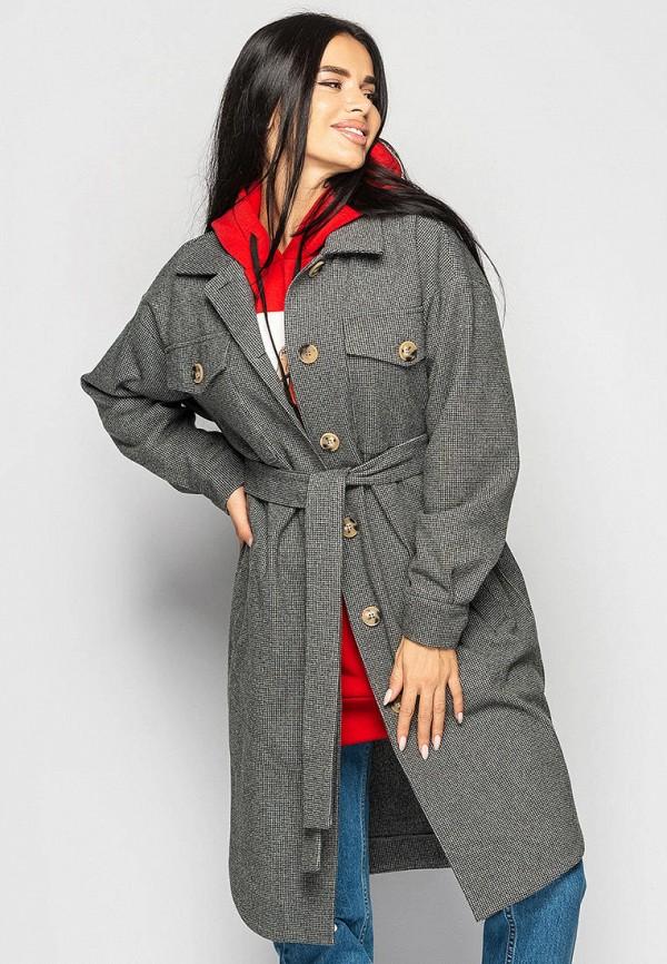 женское пальто larionoff, серое