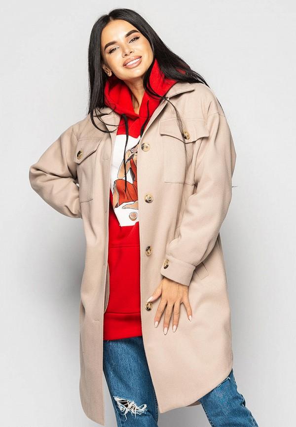 женское пальто larionoff, бежевое