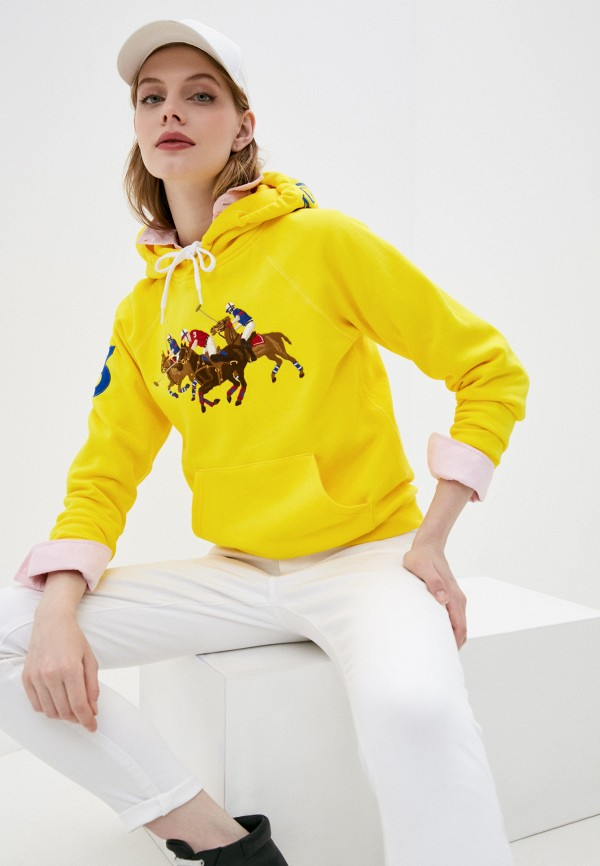 женские худи polo ralph lauren, желтые