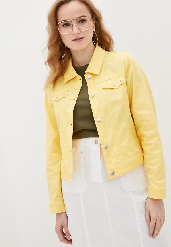 женская джинсовые куртка micha, желтая