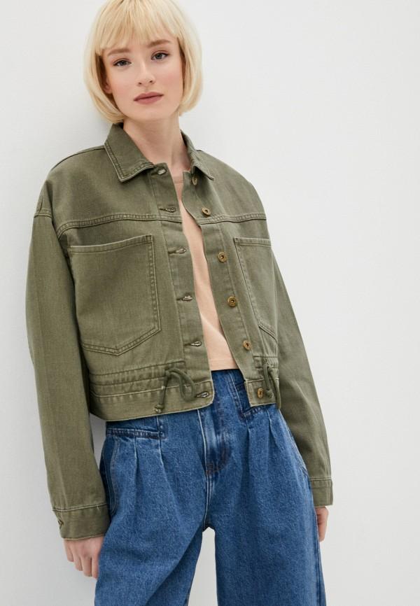женская джинсовые куртка befree, хаки