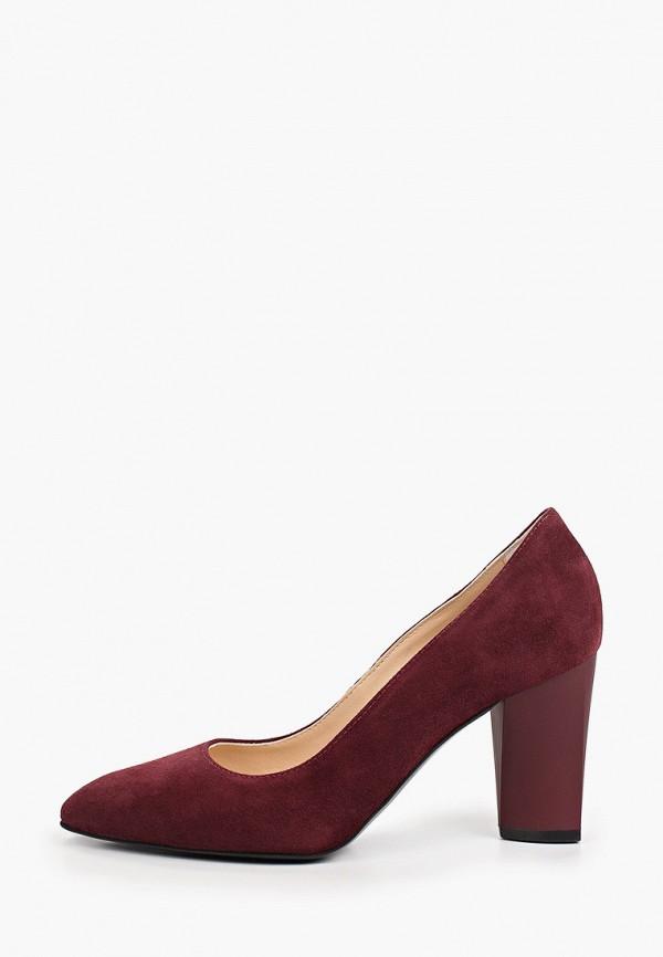 женские туфли с закрытым носом giotto, бордовые