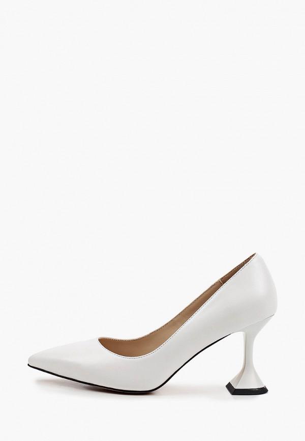 женские туфли-лодочки mascotte, белые
