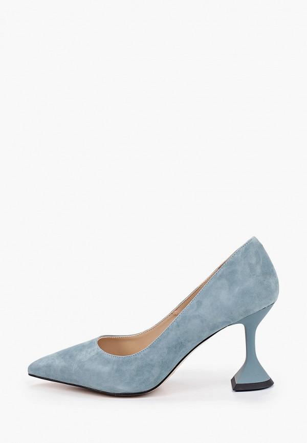 женские туфли-лодочки mascotte, голубые