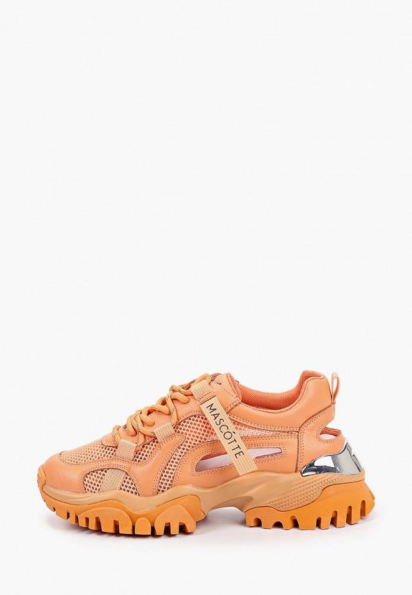 женские низкие кроссовки mascotte, оранжевые