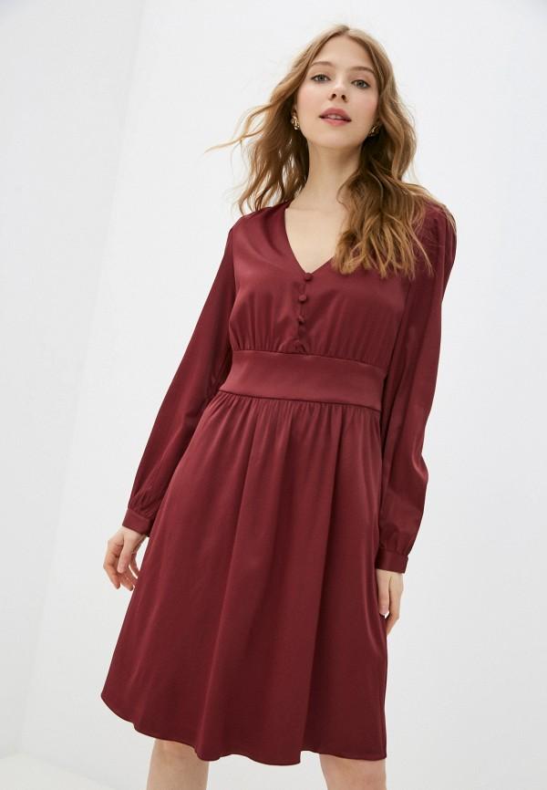 женское повседневные платье vittoria vicci, бордовое