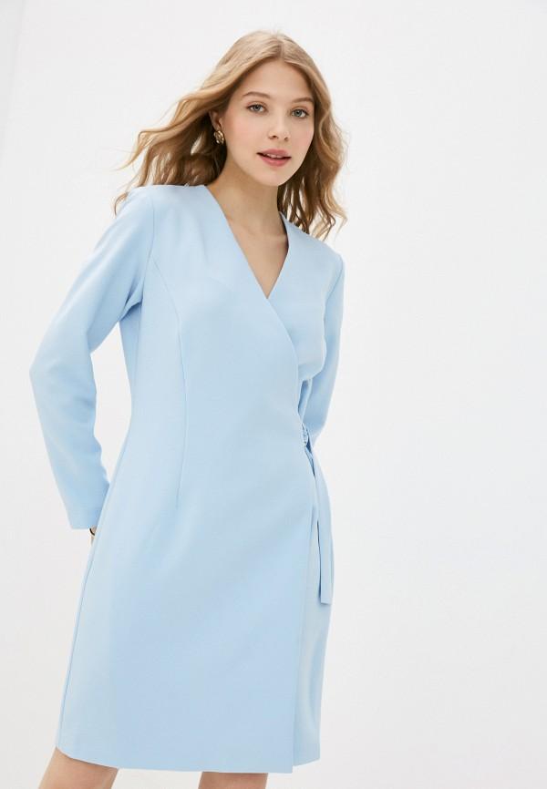 женское платье с запахом vittoria vicci, голубое