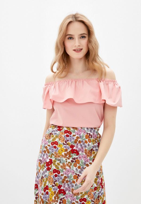 женская блузка с открытыми плечами vittoria vicci, розовая