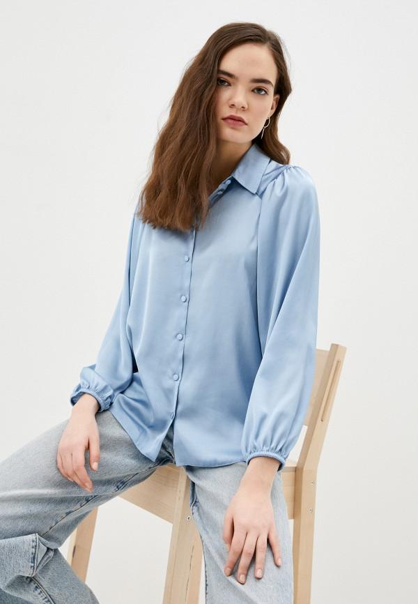 женская блузка с длинным рукавом vittoria vicci, голубая