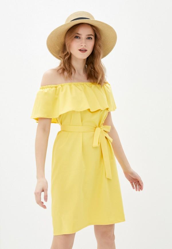 женское платье vittoria vicci, желтое