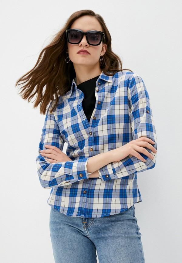 женская рубашка с длинным рукавом vittoria vicci, синяя