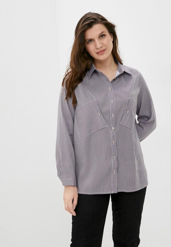 женская рубашка с длинным рукавом mankato, коричневая