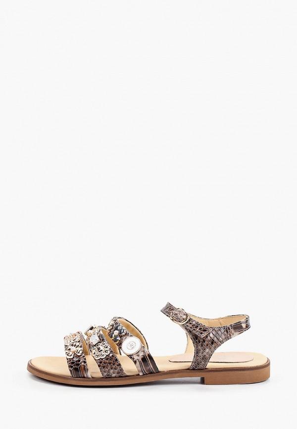 женские сандалии stivalli, коричневые