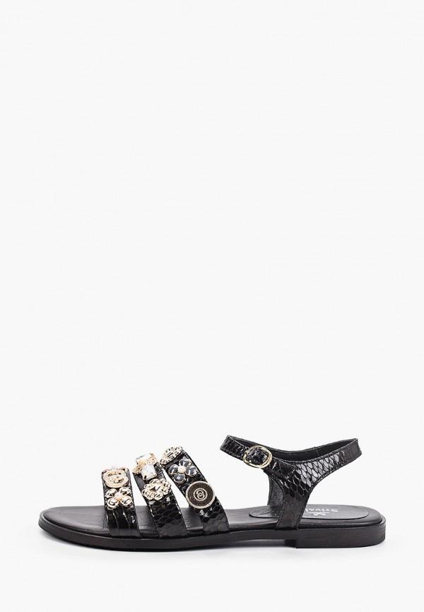 женские сандалии stivalli, черные