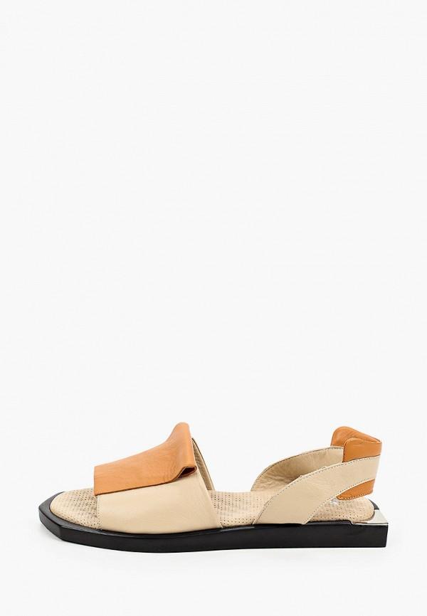 женские сандалии stivalli, бежевые