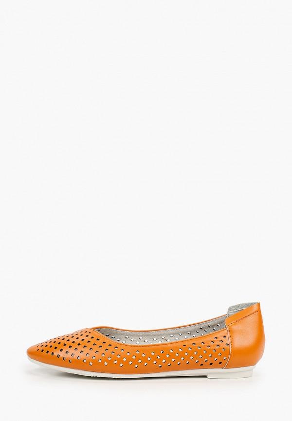 женские балетки instreet, оранжевые