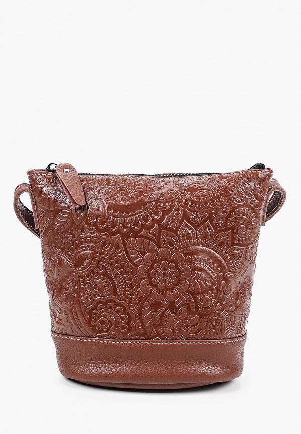 женская сумка через плечо ok&ky, коричневая