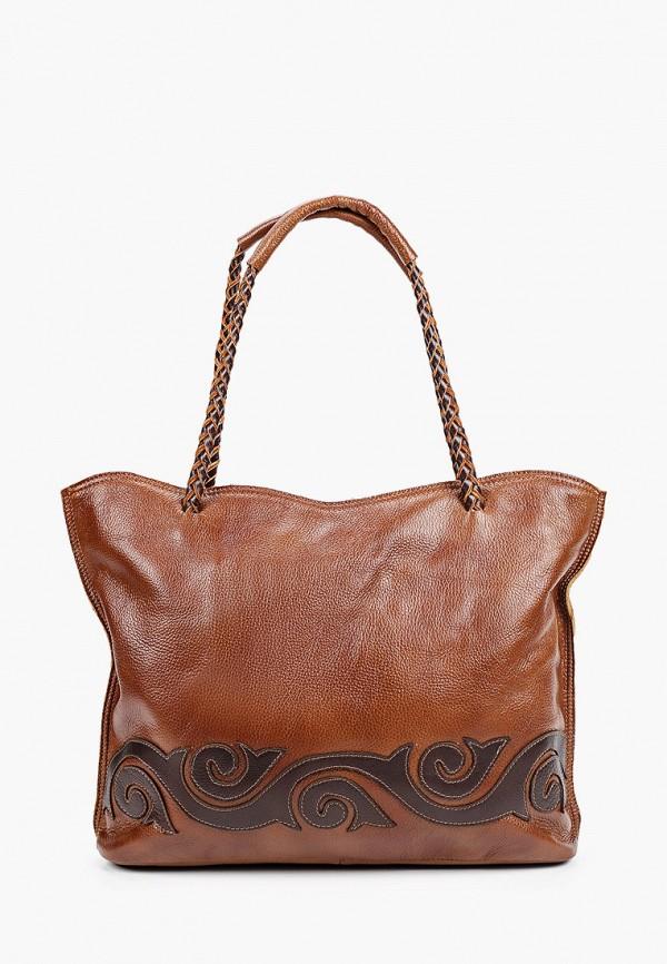 женская сумка-шоперы ok&ky, коричневая