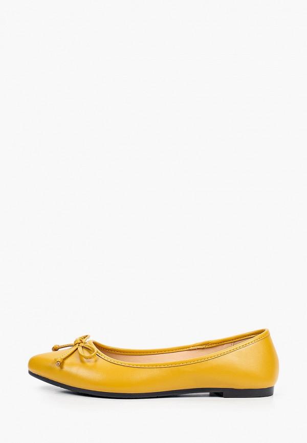женские балетки instreet, желтые
