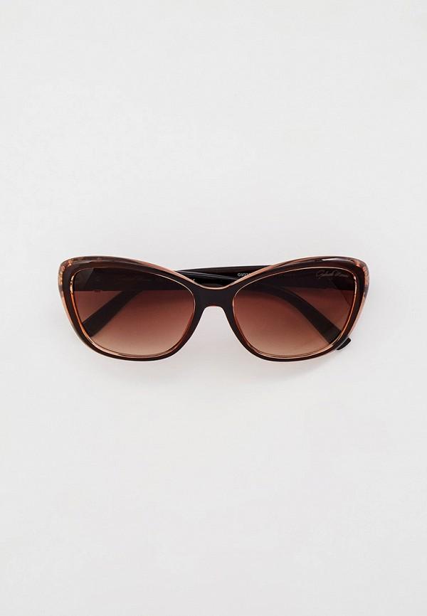 женские квадратные солнцезащитные очки gabriela marioni, коричневые