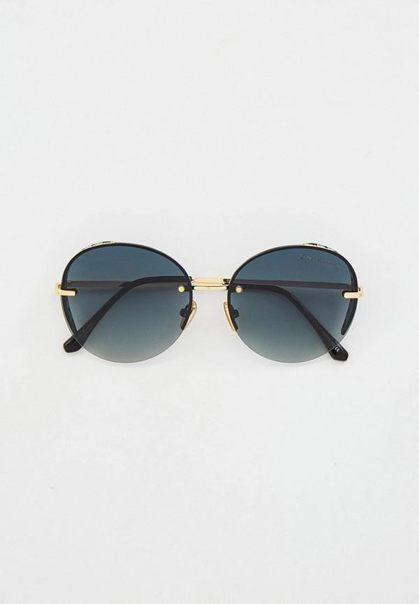 женские круглые солнцезащитные очки rita bradley, золотые