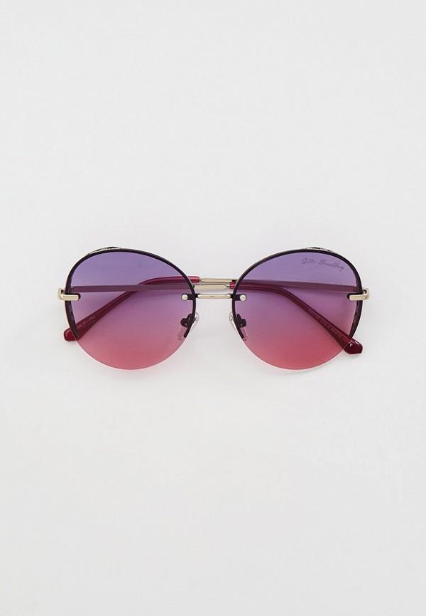 женские круглые солнцезащитные очки rita bradley, фиолетовые