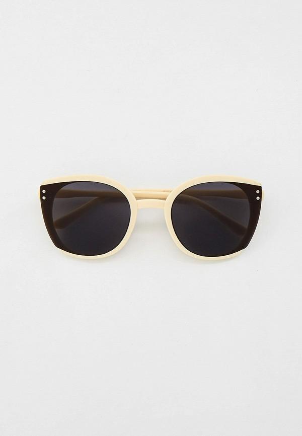 женские круглые солнцезащитные очки kellis, бежевые