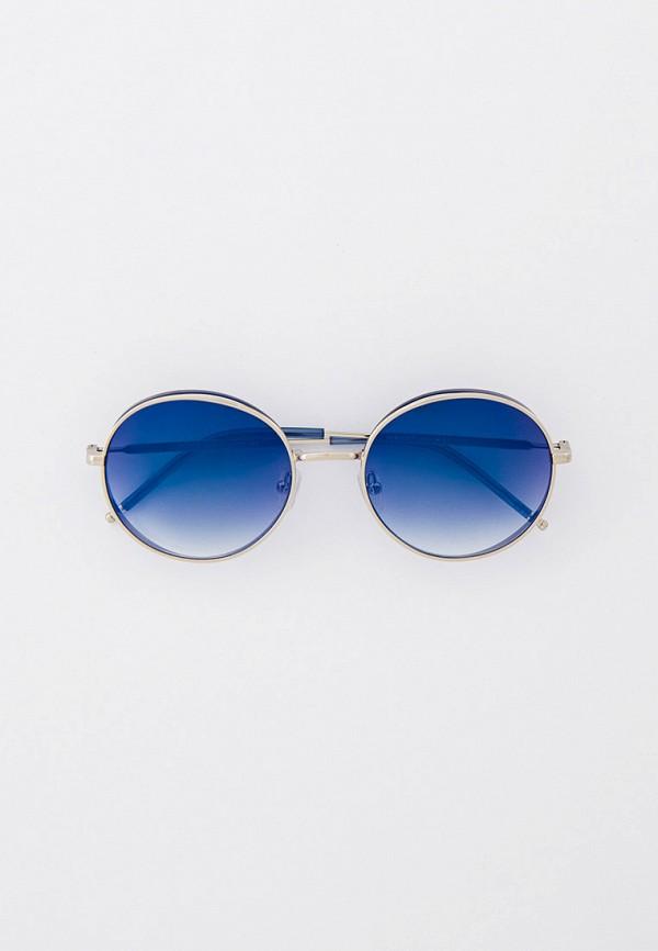 женские круглые солнцезащитные очки furlux, серебряные