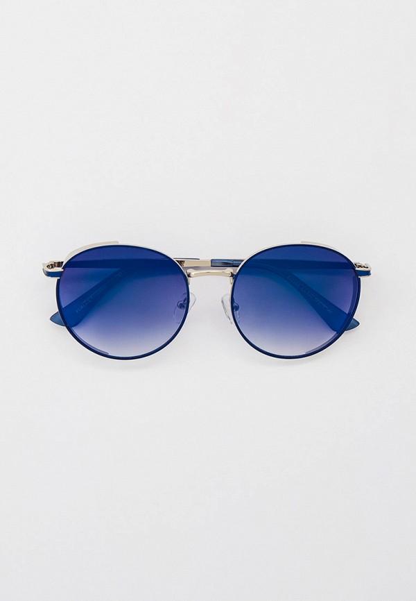 женские круглые солнцезащитные очки furlux, синие