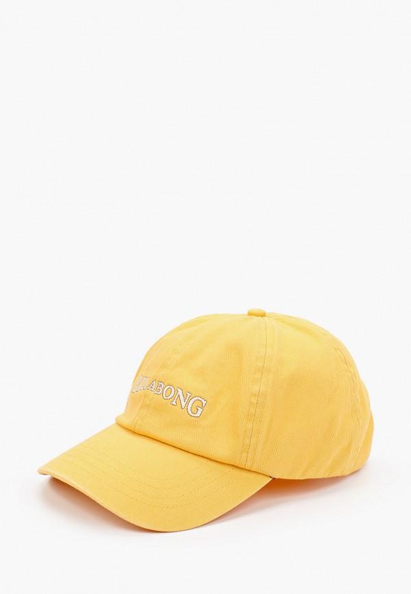 женская бейсболка billabong, желтая