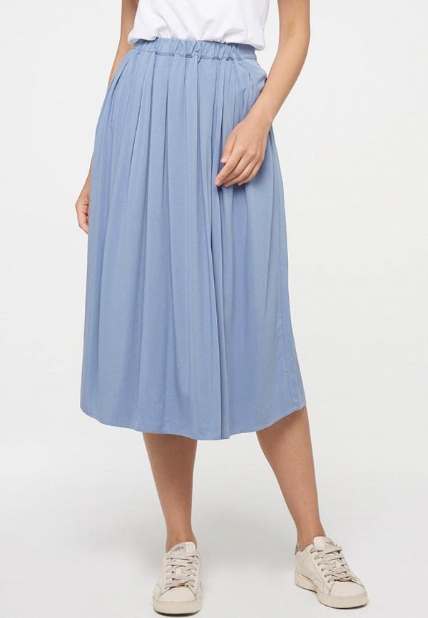 женская прямые юбка vay, голубая