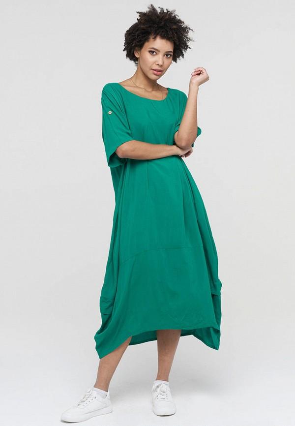 женское повседневные платье vay, зеленое
