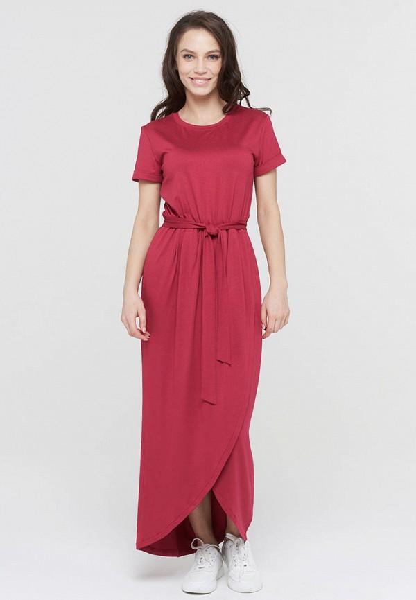 женское повседневные платье vay, бордовое