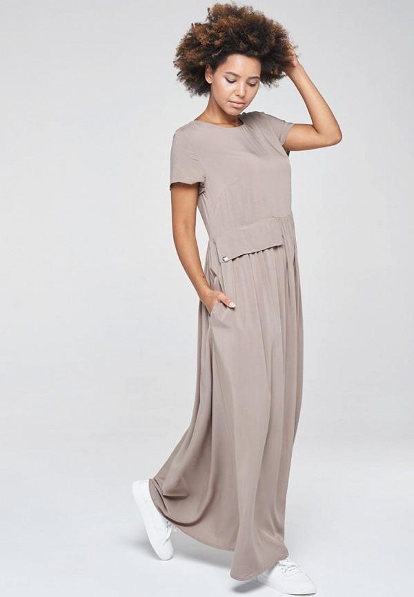 женское повседневные платье vay, бежевое