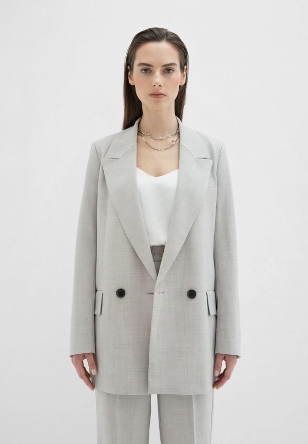 женский пиджак zarina, серый