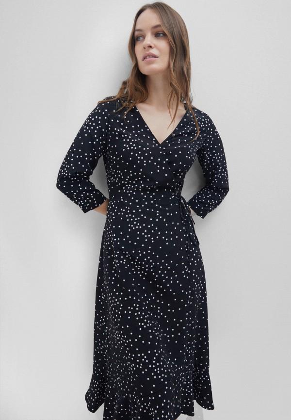 женское платье с запахом zarina, черное