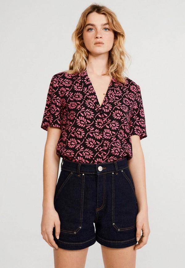 женская блузка с коротким рукавом claudie pierlot, розовая