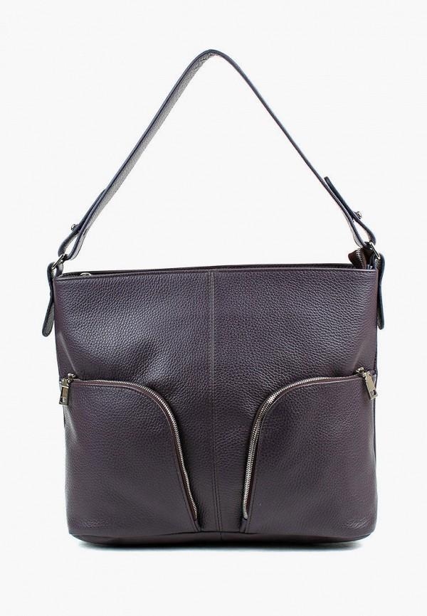 женская сумка с ручками медведково, фиолетовая