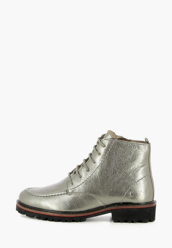 женские высокие ботинки kickers, серебряные