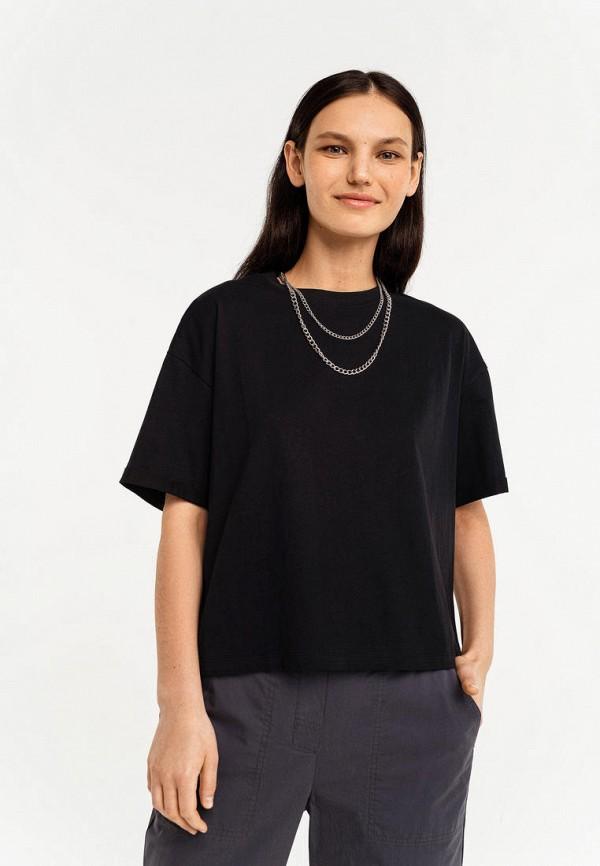 женская футболка befree, черная