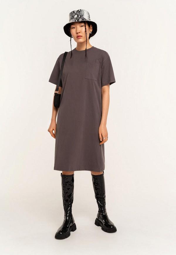 женское платье-футболки befree, серое