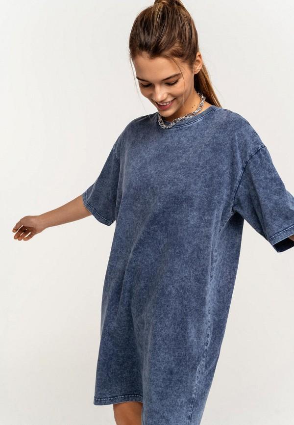 женское платье-футболки befree, синее