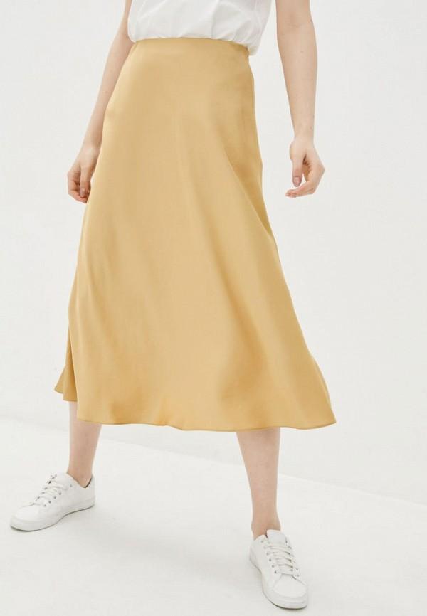 женская юбка week, золотая