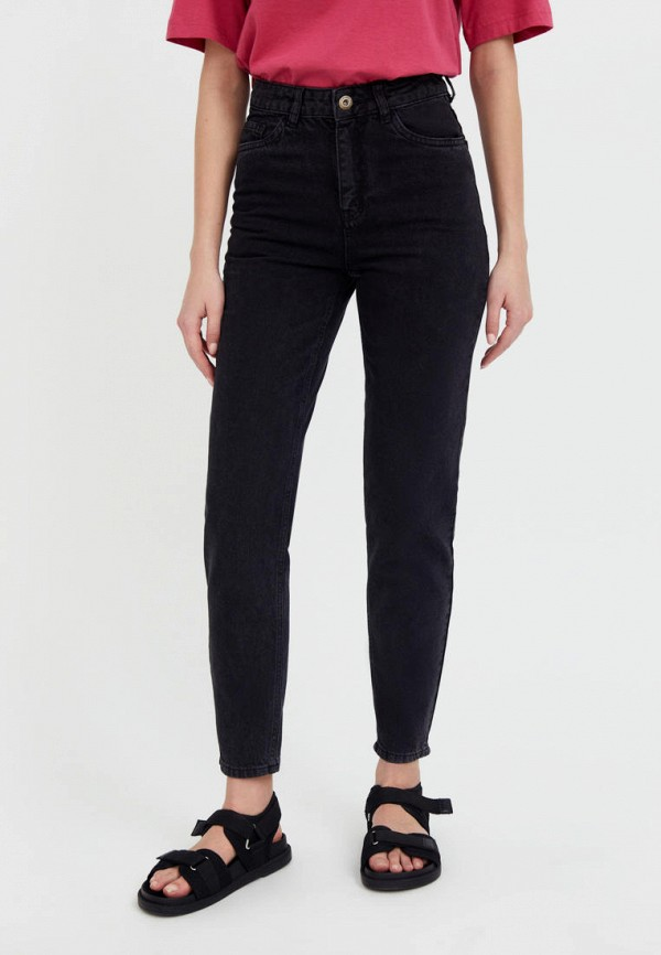 женские джинсы-мом finn flare, черные