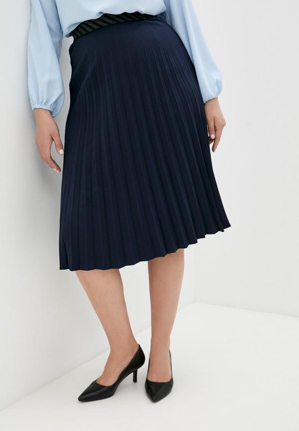 женская плиссированные юбка averi, синяя