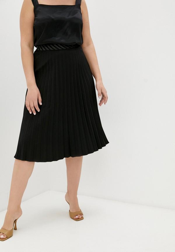 женская плиссированные юбка averi, черная